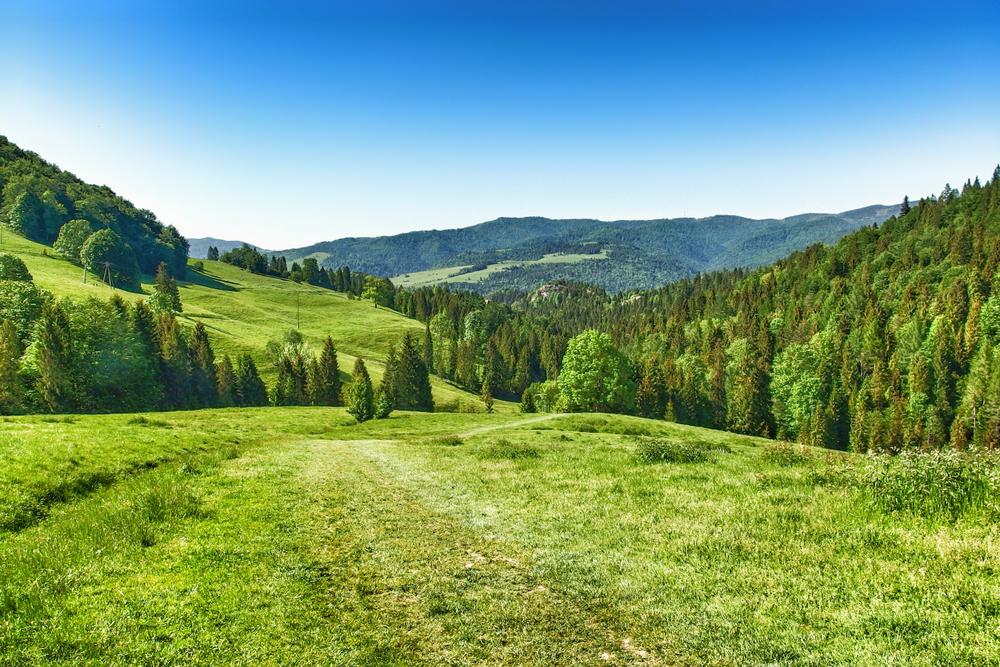 Beskiden gebergte in Tsjechië