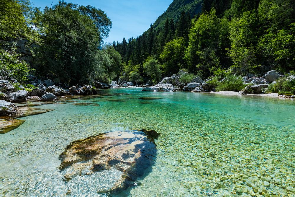 Soca rivier Slovenië