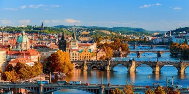 Bruggen in Praag in Tsjechië