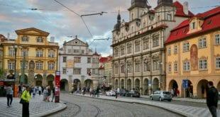 Straat in Budapest in Hongarije