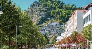 Berat in Albanië (Balkan)
