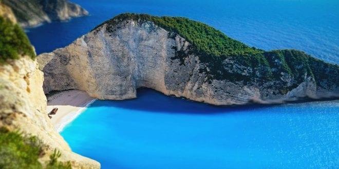 Navagio strand op het Griekse eiland Zakynthos