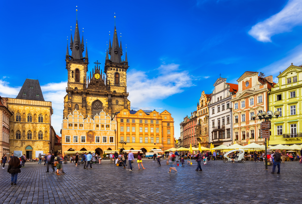 Het Oude Stadsplein Praag Tsjechië