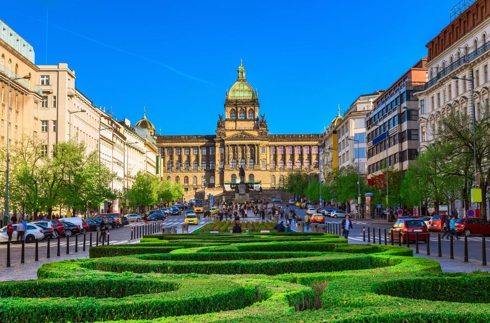 Wenceslas plein Praag Tsjechië