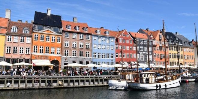 Stad Kopenhagen Denemarken