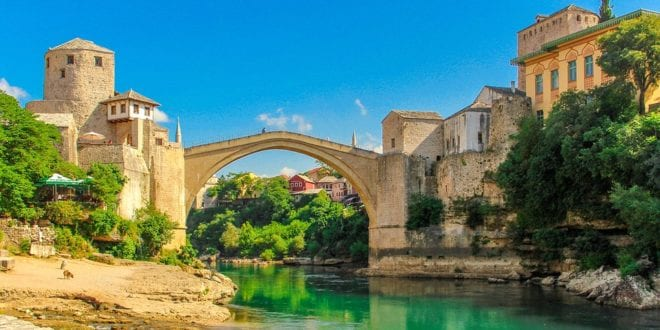 Stari Most brug, Mostar, Bosnië-Herzegovina