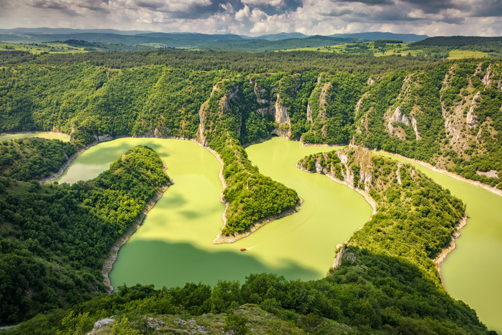 Uvac rivier Servië