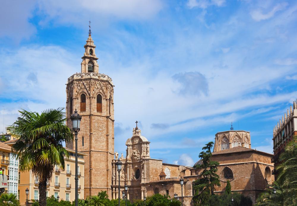 Cathedral de Valencia Y el Miguelete Valencia Spanje
