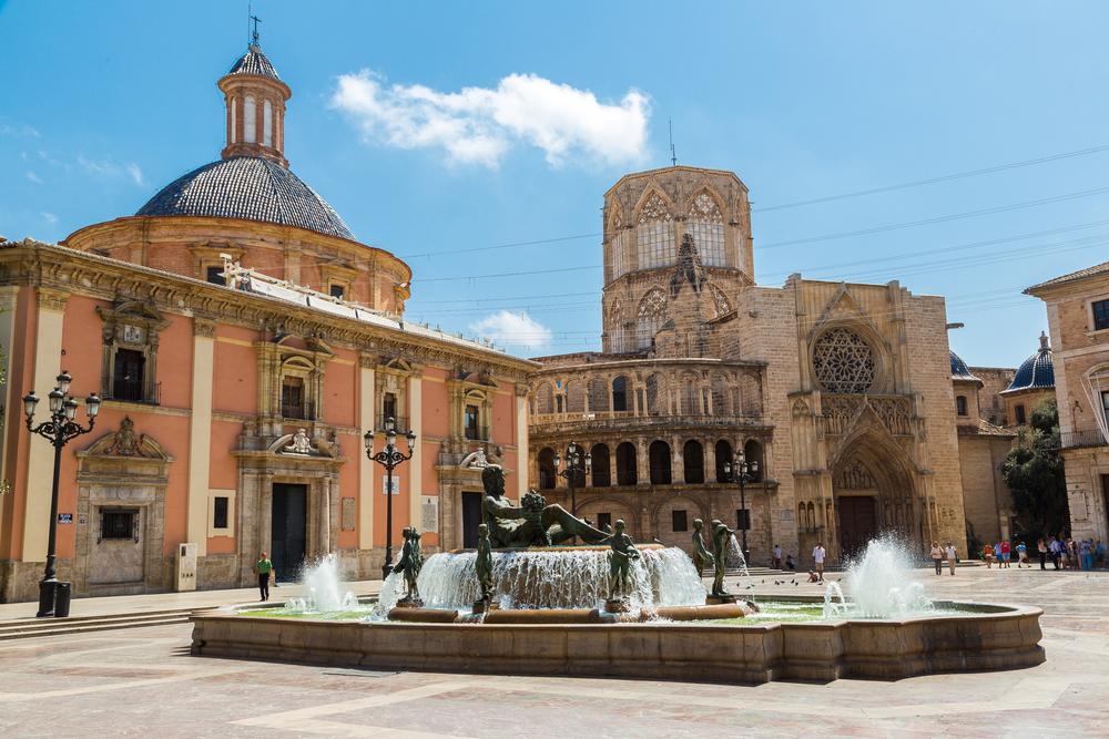 Plaza de la Virgen Valencia Spanje