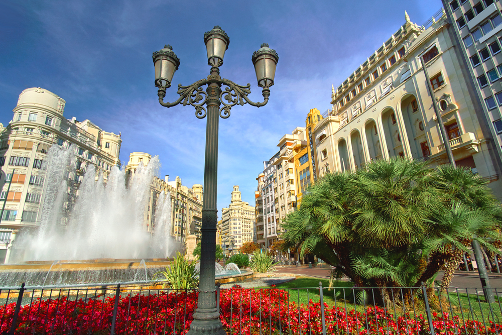 Plaza del Ayuntamiento Valencia Spanje