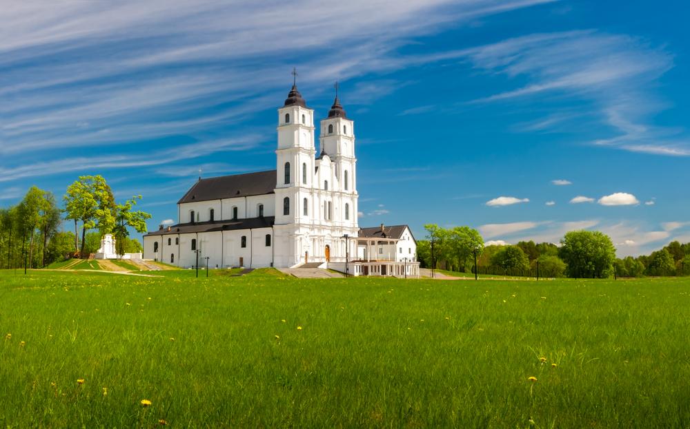 De basiliek van Aglona Letland