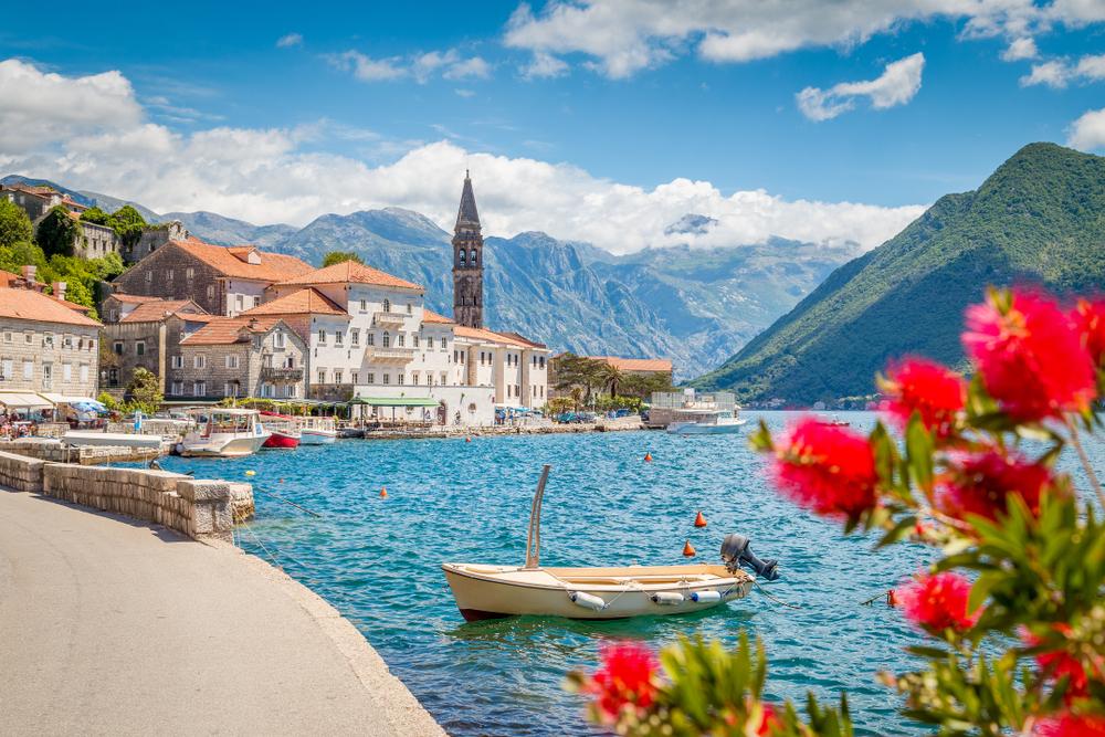Baai van Kotor in Montenegro